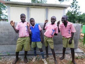 The Water Project:  Boys With Their New Latrines