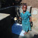 The Water Project: Buyangu Community, Osundwa Spring -  Getting A Fresh Drink
