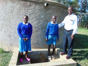The Water Project:  Sandra Another Student And Mr Ilavonga