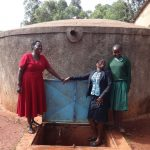 The Water Project: Isulu Primary School -  Ms Asatsa Field Officer Mary And Noreen