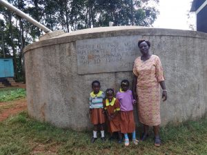 The Water Project:  Deputy Head Teacher Eunice With Pre Primary Pupils