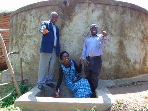 The Water Project:  Field Officer Joan Were With Mr Namasake And Another School Administrator