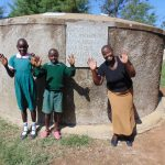 The Water Project: Mavusi Primary School -  All Smiles At The Rain Tank