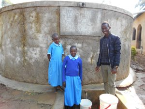 The Water Project:  Field Officer Ian Nakitare With Beatrice And Anne
