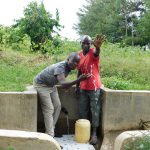 The Water Project: Shibuli Community, Khamala Spring -  Victor And Jeremiah Make A Splash