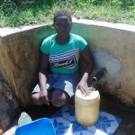 The Water Project: Musango Community, Jared Lukoko Spring -  Filling Up At The Spring