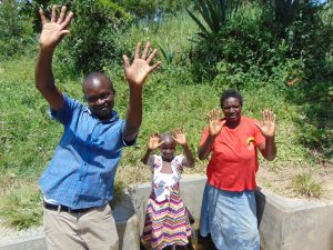 The Water Project:  Field Officer Victor Musemi With Celestine And Violet