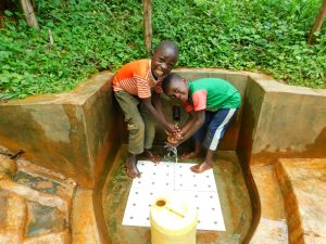 The Water Project:  Kids Enjoying The Spring Water