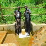 The Water Project: Koitabut Community, Henry Kichwen Spring -  Ivan With Field Officer Wilson