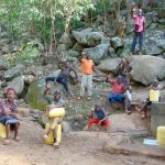 The Water Project: Upper Visiru Community, Wambosani Spring -  Kids At The Spring