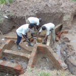 The Water Project: Shihungu Community, Shihungu Spring -  Wall Construction