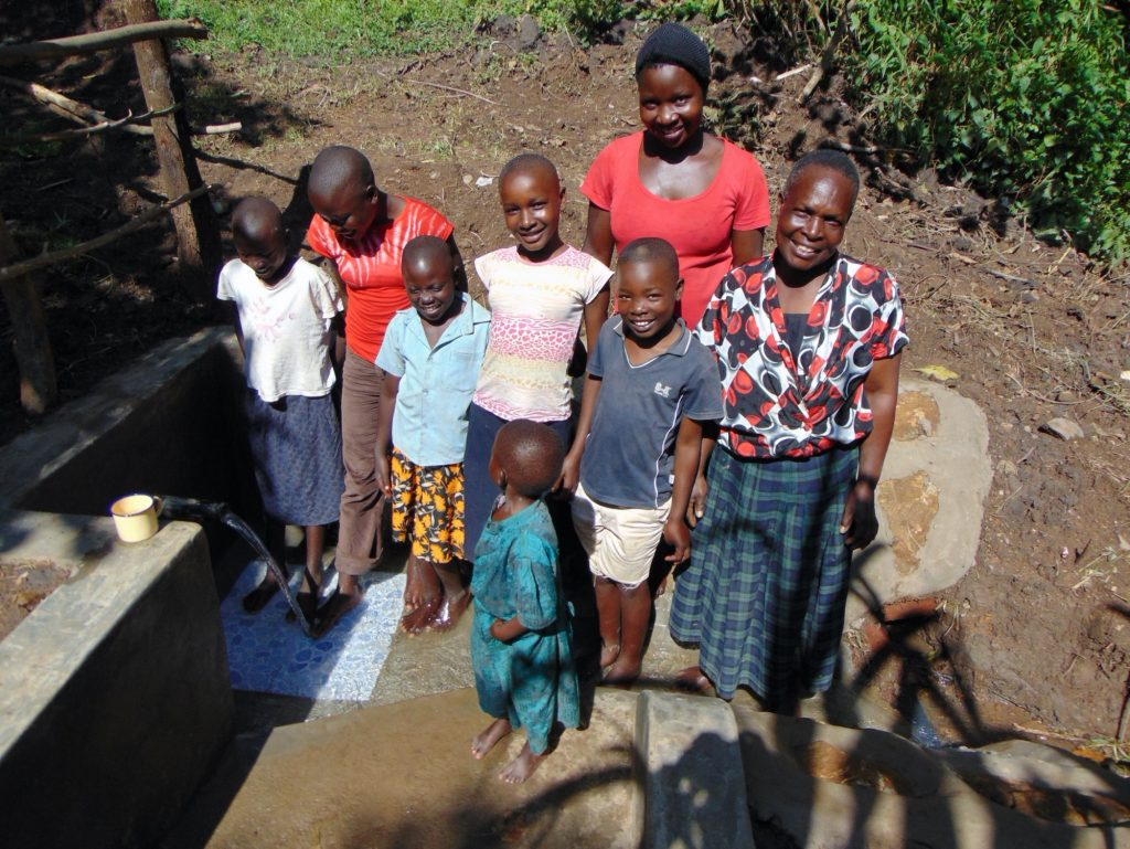 The Water Project : 40-kenya19156-happy-spring-users