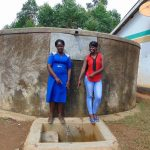The Water Project: Shihimba Primary School -  Teacher Mrs Esther Ihaji With Field Officer Jemmimah