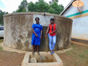 The Water Project:  Teacher Mrs Esther Ihaji With Field Officer Jemmimah