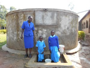 The Water Project:  Madam Miriam Memeti With Beatrice And Anne