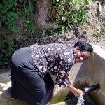 The Water Project: Matsakha Community, Mbakaya Spring -  Karen Enjoying The Spring Water