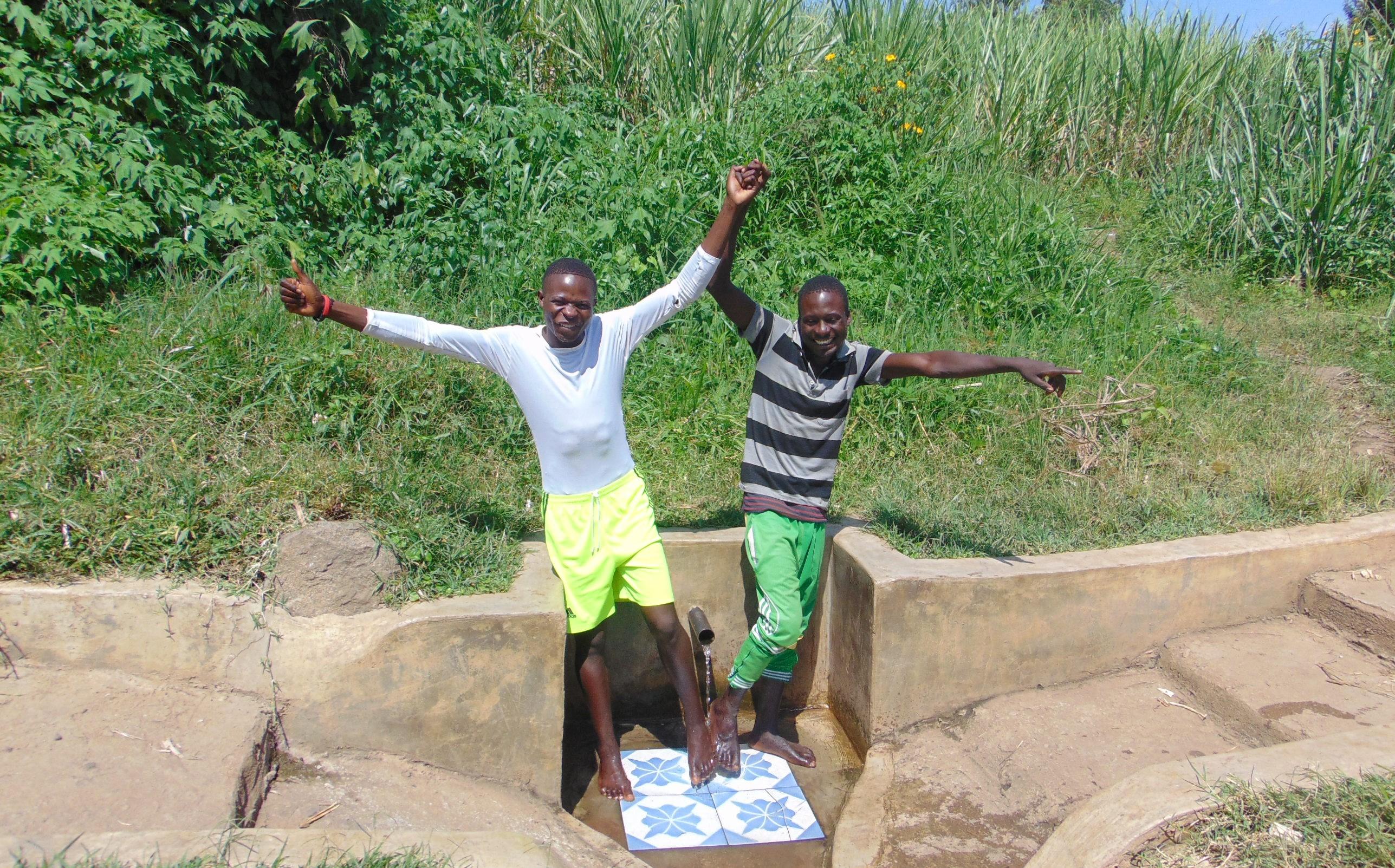 The Water Project : 5-kenya18132-friends-elias-masinde-and-ibrahim-okumu
