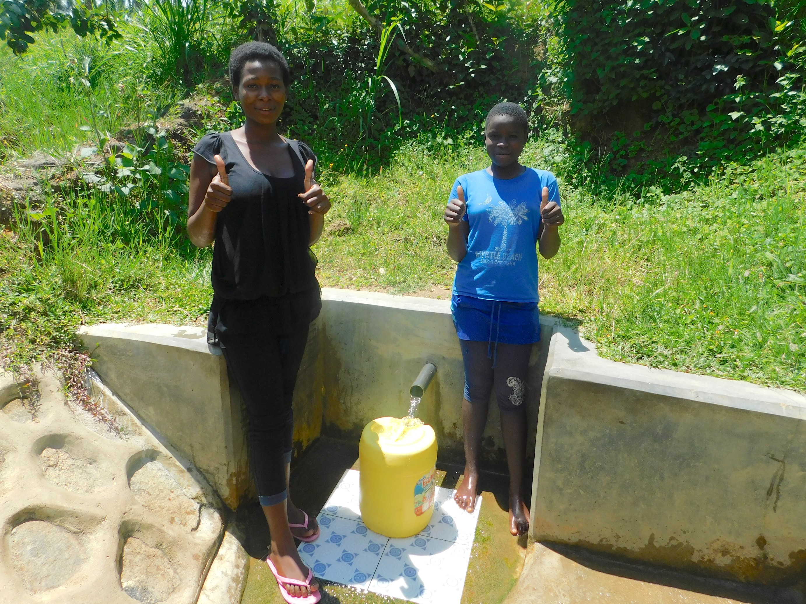 The Water Project : 5-kenya18146-margret-and-ruth