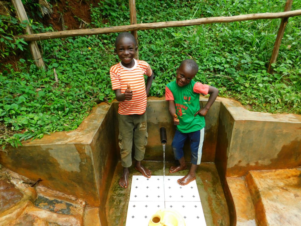 The Water Project : 5-kenya18159-kids-pose-with-the-spring