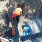 The Water Project: Buyangu Community, Osundwa Spring -  Brick Setting