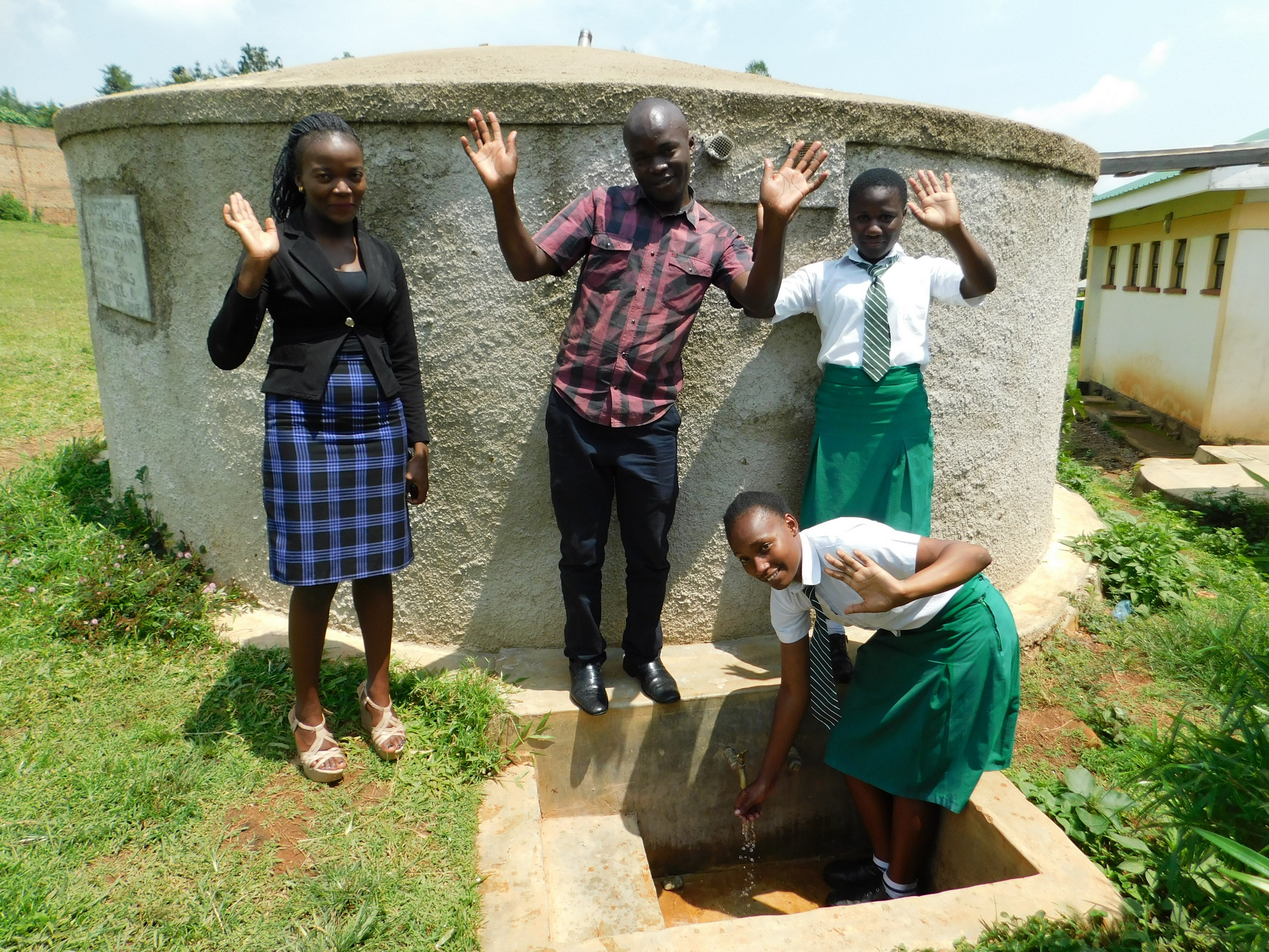The Water Project : 6-kenya18063-michelle-victor-lutta-and-immaculate