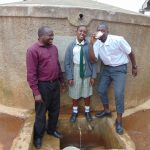 The Water Project: Precious School Kapsambo Secondary -  Enjoying A Drink