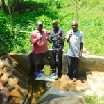 The Water Project: Koloch Community, Solomon Pendi Spring -  Field Officer Wilson Kipchoge Center Joins The Photo
