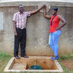 The Water Project: Lwanda Secondary School -  Mr Ambunya And Field Officer Jemmimah Khasoha