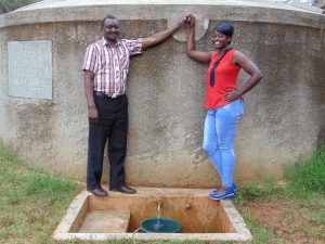 The Water Project:  Mr Ambunya And Field Officer Jemmimah Khasoha