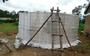 The Water Project:  Rain Tank Walls Form