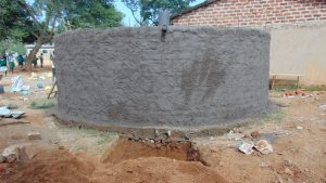 The Water Project:  Rain Tank With Fresh Cement