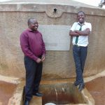 The Water Project: Precious School Kapsambo Secondary -  Mr Sandagi With A Student Enjoying A Laugh