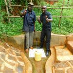 The Water Project: Asimuli Community, John Omusembi Spring -  John Omusembi With Field Officer Wilson Kipchoge