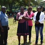 The Water Project: Mukunyuku RC Primary School -  The Team Conducting Interviews