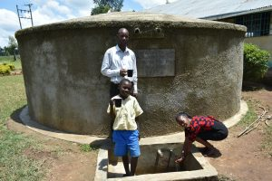 The Water Project:  Mr Chitechi Cheinster And Betty At The Rain Tank