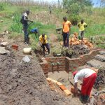The Water Project: Sasala Community, Kasit Spring -  Spring Begins To Take Shape