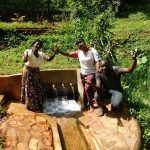The Water Project: Shirakala Community, Ambani Spring -  Rhoda Jacklyne And Titus Are All Smiles
