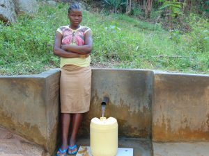The Water Project:  Agnes Lidambiza Fetches Water