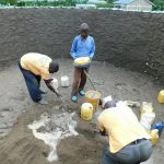 The Water Project: Kimangeti Primary School -  Mixing Cement For Interior Pilars