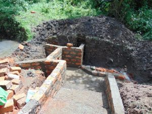 The Water Project:  Stairs And Spring Take Shape