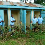 The Water Project: Kerongo Secondary School -  Girls Outside Their Latrines