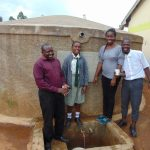 The Water Project: Precious School Kapsambo Secondary -  All Smiles At The Rain Tank