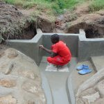 The Water Project: Sasala Community, Kasit Spring -  Inscribing The Plaster