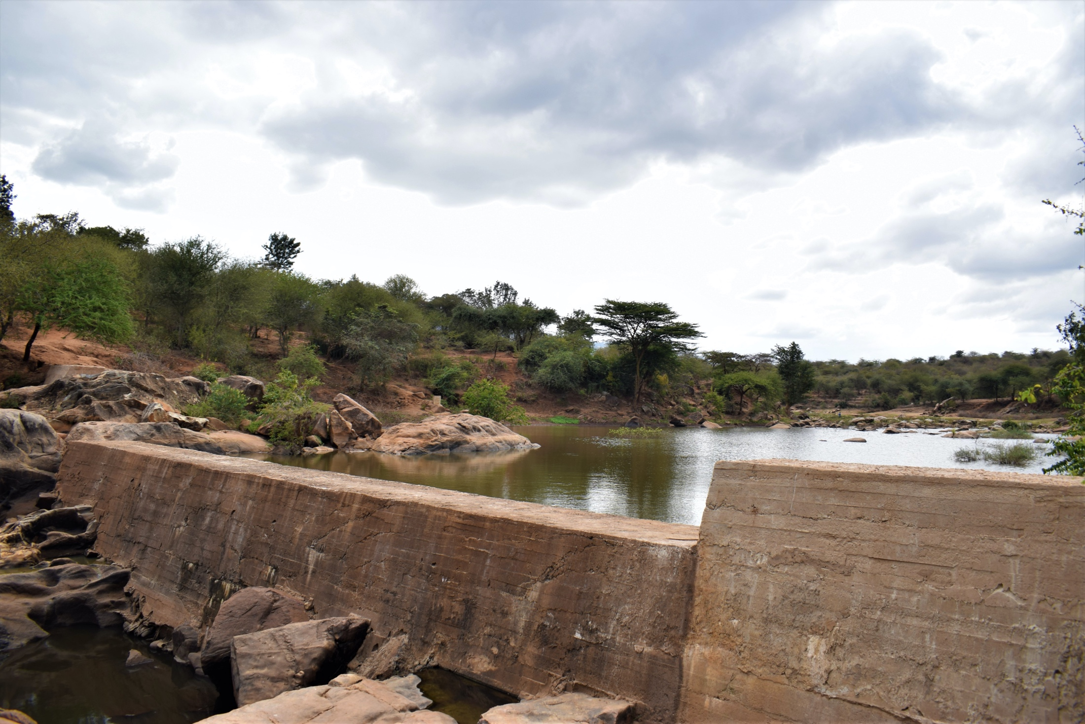 The Water Project : kenya18186-dam-with-water-behind