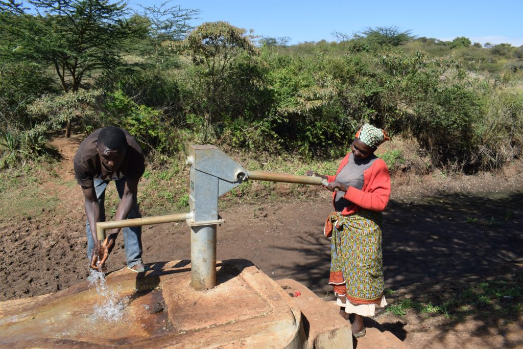 The Water Project : kenya18188-well-a-year-later