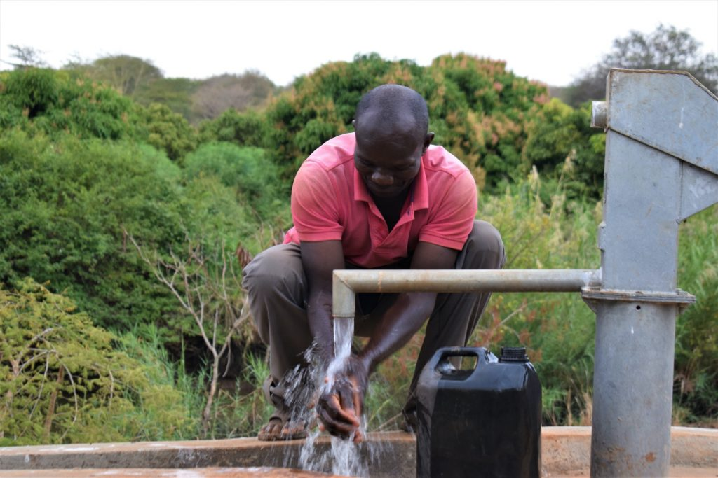 The Water Project : kenya18197-well-a-year-later
