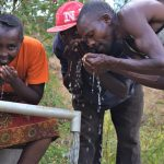 The Water Project: Masola Community A -  Drinking From The Well