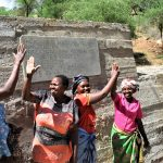 The Water Project: Maluvyu Community F -  Big High Fives In Front Of The Dam