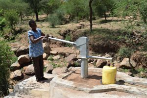 The Water Project:  Pumping The New Well