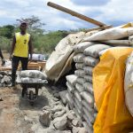 The Water Project: Kaukuswi Community A -  Cement